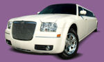 Chauffeur stretch  cream Chrysler C300 Baby Bentley limousine hire in Bristol, Bath, Weston-Super-Mare, Gloucester, Cheltenham, Cardiff, Wales.