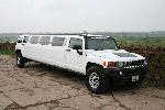 Chauffeur stretch white Hummer limo hire in Carlisle, Workington, Penrith, Barrow-in-Furness, Kendal, Whitehaven, Durham, Cumbria