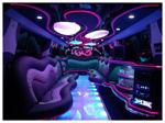 Chauffeur stretched Porsche Cayenne limousine hire interior in UK